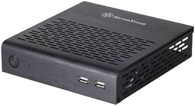 Silverstone Tek Aluminum Top Cover/Steel Body Thin Mini-ITX Media Center/HTPC Case PT13B - Black