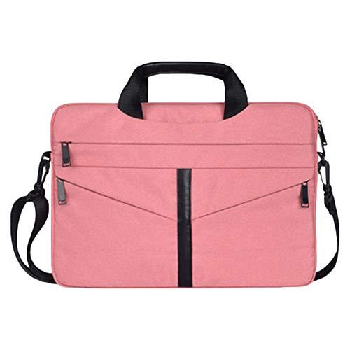 Schulterdiagonale Reißverschluss Wasserdicht Laptop Sleeve Case Laptophülle Computertasche Hülle Tasche Pink 14.1 Zoll