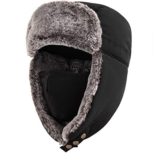 Unigear Gorro de Invierno Térmico Gorro de Aviador Caliente Orejeras Mascara Sombrero de Esquí Ciclismo Senderismo A Prueba...