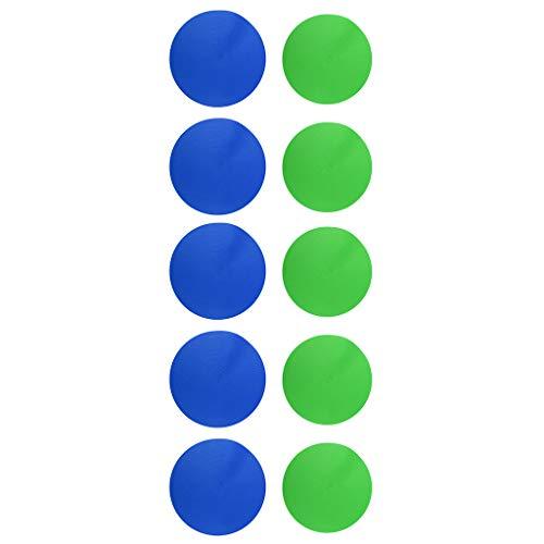 F Fityle 10 Pcs Marcadores Deportivos de Fútbol Baloncesto de Alta Tenacidad y Repetidamente de Verdes y Azules