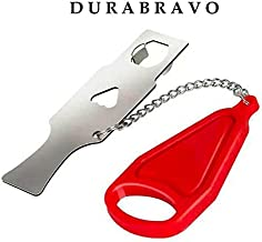 DURABRAVO Portable Door Lock for Home and Travel- New Edition with Highest Quality - Safe Secure Door Attachment for Travel - AirBNB, Apartments, Hotel Safety - Toddler and Baby Lock from Inside