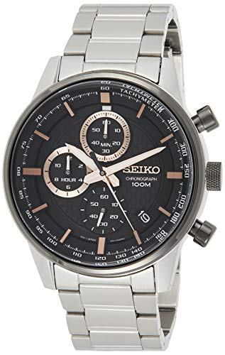 Seiko Chronograph Herren-Uhr Edelstahl mit Metallband SSB331P1