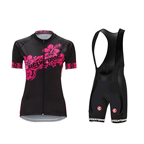 Uglyfrog 2018 Frühling Sommer Radsport Anzüge Damen schließen Hülsen Zyklus Jersey Fahrradtrikot Frau Breathable Radfahren Fahrrad Kurzarm Jersey & Trägerhosen Sets