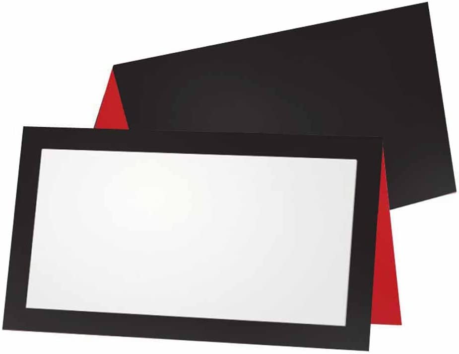 Black and Red Place Cards - Flat Pack Tent Sales for sale or 50 Max 72% OFF White 10