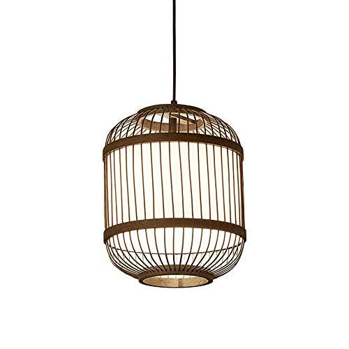 tejido a mano japonesa de techo de estilo Arañas de bambú cortina de bambú creativo Corredor lámpara pendiente Negro Hall Tea Room restaurante colgantes luces retro País Patio granja Araña
