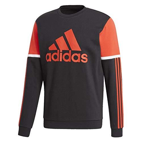 adidas OSR Crew Sweatshirt Sudadera de Hombre, Color Negro, Small