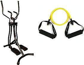 فتنس وورلد الغزال الطائر المطور 4 جهات ،أسود مع حزام رياضي مقاوم للتمدد ، للاذرع مناسب للرياضة اليوغا ، N017a