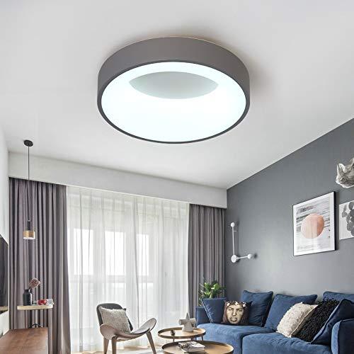 Apliques Pared de techo moderna blanca / gris lámpara de techo de Iluminación for dormitorio cocina brillo Lampadario Cristal, Color de Pantalla: café, Tamaño: Dia40cm arte del hierro, de Emisión de c