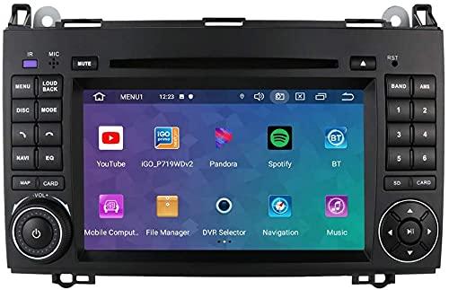 Android 10 Autoradio 2 Din per Benz A-W169/B- W245/V-W639/W906 Sprinter/VW Crafter Benz Radio Bluetooth Comandi al Volante GPS DVR DSP 4G USB Wifi Retrocamera Ingresso DAB+ Lettore DVD Pulsanti LED