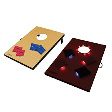 Triumph LED Tournament Outdoor Bean Bag Toss Game Includes Eight Bean Bag Toss Bags