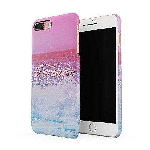 Cocaine Drugs Waves Ocean Sea Custodia Posteriore Sottile in Plastica Rigida Cover per iPhone 7 Plus & iPhone 8 Plus Slim Fit Hard Case Cover