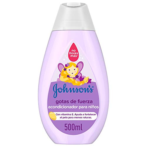 Johnson's Baby Gotas de Fuerza Acondicionador para Niños, Especialmente Diseñado para Ayudar a Fortalecer el Cabello - 500 ml