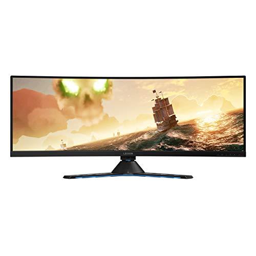 """Lenovo Legion Y44w Monitor Gaming Curvo, Pantalla 43,4"""" 2K IPS, Free-Sync, Resolución 3840 x 1200, 4 ms, 144 Hz, Relación 32:9, HDMI, Display Port, USB-C, Negro"""