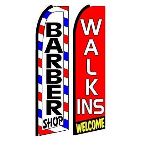 Hardware not Included Pack of 5 Barber Shop King Swooper Flag
