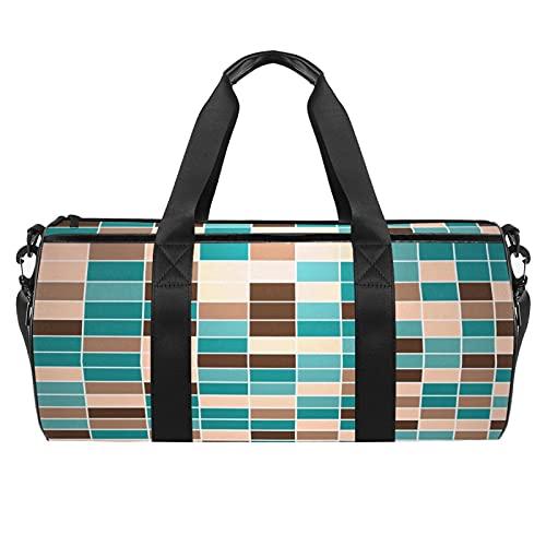 Grande borsa da viaggio borsa sportiva borsa a tracolla weekender borsa per donna e uomo colorato modello cuore, Astratto10, 45x23x23cm/17.7x9x9in,