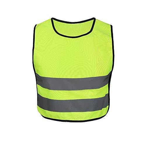 Luqifei Reflektierende Jacke Campus-Nachtlauf-Fluoreszierende gelbe Kinder reflektierende Weste hebt die Sicherheitsweste der Grundschule für Kinder hervor Visible Laufen Radfahren und Arbeitsjacke