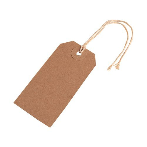 200 Small Brown/Buff (Manilla) Strung 70x35mm Tag/Tie On Luggage Craft Labels