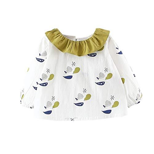 Mornyray Toddler Bébés Filles Printemps Automne Coton Fruit Patterns Princesse À Manches Longues Robe 1-3 T Size 75 (Green)