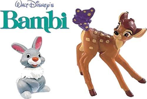 BULLYLAND Figuren Bambi DISNEY-Bambi und Klopfer-ideal zum Dekorieren von Torten