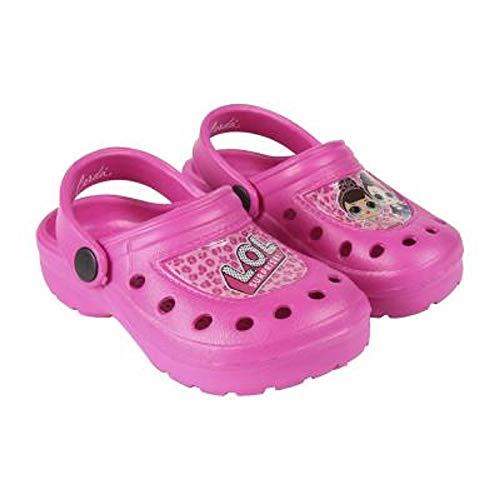 L.O.L. Surprise ! Zapatos de Playa y Piscina de Niñas | Zuecos para Niña con Muñecas Diva, Fancy, Rocker | Sandalias y Chanclas De Interior Y Exterior (30/31 EU, Crocs/Rosa)