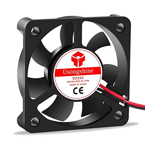Durable 5010 Ventilador de refrigeración 12V 2pin Piezas de impresoras 3D Ventiladores fríos sin escobillas Parte del radiador enfriador 50 * 50 * 10 mm Accesorio silencioso 5CM DC 50m Piezas de impre
