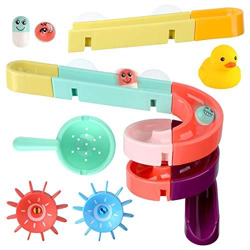 XKMY Juguete de baño Elefante Eléctrico Agua Spray Juguetes para Niños Bebé Baño Bañera Grifo de Ducha Juguetes Fuerte Ventosa Juego de Agua para Niños (Color: 24pcs Track ST016C)