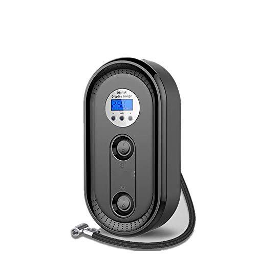 WYFDM Auto-Luftpumpe, Auto-Auto-Elektrik-Reifen-tragbare Digitalanzeige-Minihandmultifunktionsauto-Luftpumpe kompakt und einfach zu tragen sicher und sicher,Black