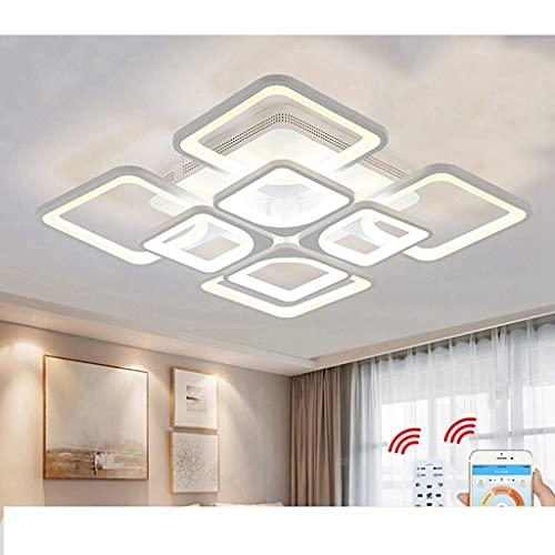 WFSH DIRIGIÓ Luz de Techo, 6 0W / 75W / 80W Lámpara de diseño de acrílico Creativo Cuadrado Iluminación de Techo Lámpara de Techo Moderna para Dormitorio Estudio Estudio