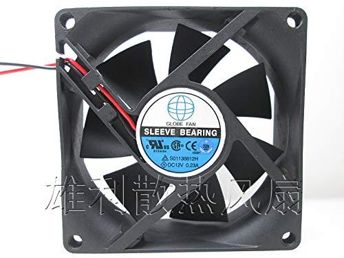 S01138812H 12V 0.23A 8CM 8025 fuente de alimentación de 2 hilos chasis ventilador de refrigeración