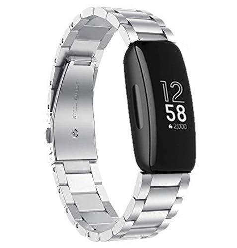 Chofit Cinturino sostitutivo regolabile in metallo Compatibile con Fitbit Alta / Alta HR, Silver