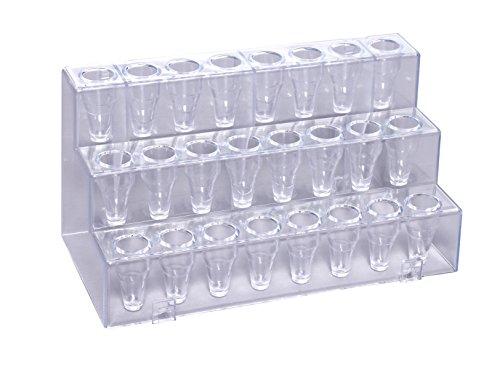 camlab Kunststoffe RTP/5409Polystyrol Micro Tube Rack, Single, transparent (4Stück)
