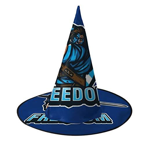 OJIPASD Braveheart Freedom Sombrero de Bruja Unisex Disfraz para Vacaciones, Halloween, Navidad, Carnaval, Fiesta