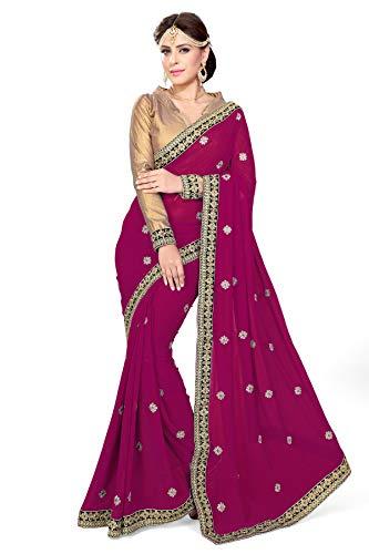 Mirchi Fashion Mirchi Fashion Damen Bollywood Kostüm Indian Sari Kleid mit Ungesteckt Oberteil/Top