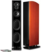 Polk Audio LSiM 705 Superior Floorstanding Tower Speaker | Dynamic Balance & PowerPort Technology | Bi-Wire & Bi-Amp | Single, Mount Vernon Cherry
