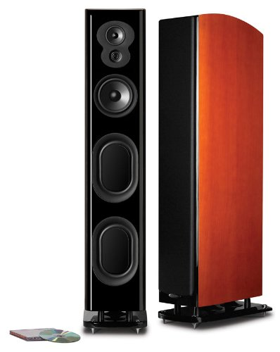 Polk Audio LSiM 705 Superior Floorstanding Tower Speaker | Dynamic Balance & PowerPort Technology | Bi-Wire & Bi-Amp | Single, Mount Vernon Cherry