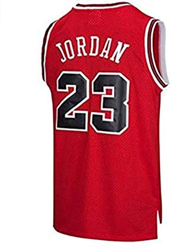 BeKing NBA Jersey Michael Jordan # 23 Chicago Bulls Basketballtrikot Herren Retro Weste Gym T-Shirt Sport, S-XXL, rot, XL