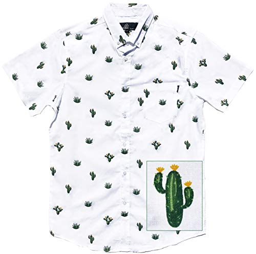 M MOLOKAI SURF Official Molokai Shirts (Desert Cactus, Medium)