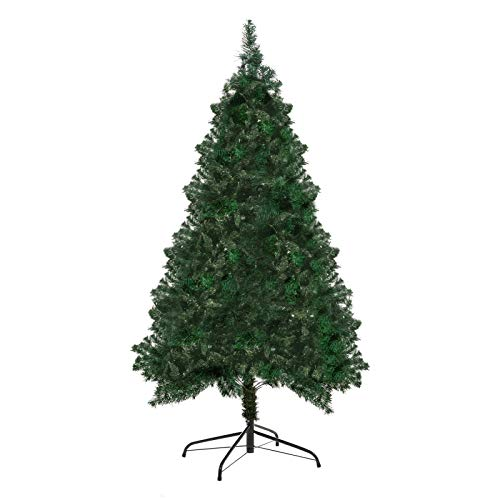 Sunshine Decor 4ft Artificial PVC Christmas Pine Tree Holiday Decoration with Metal Stand, 307 Tips, Easy Assembly