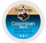 Roast Ridge Single Serve Coffee Pods Compatible with Keurig K-Cup Coffee Brewers, Colombian 100 Ct.