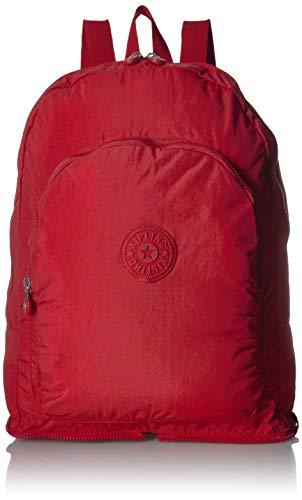 Kipling Earnest - Zaino pieghevole da donna, con chiusura a zip, Confezione di ciliegie. (rosso) - BP4307-618
