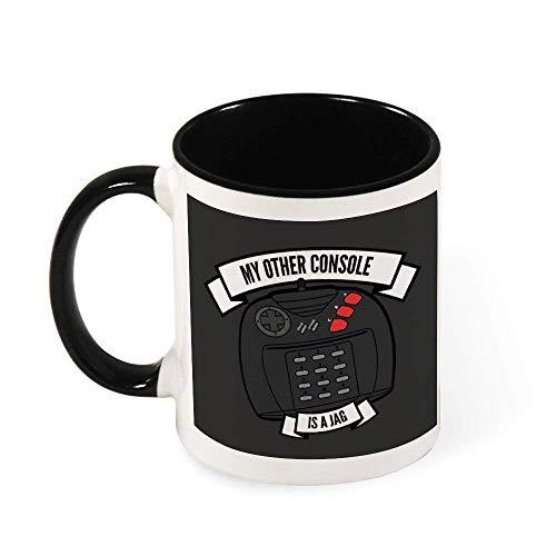 N\A Taza de cerámica Mi Otro Consola es un Jaguar de Atari Taza del té, Regalo para Las Mujeres, Las niñas, Esposa, mamá, Abuela, 11 oz