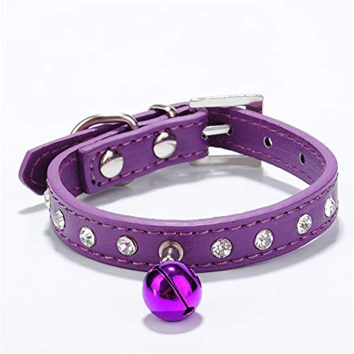 HDDFG Collares de gatos con campana, collar de gatito, accesorios para mascotas pequeñas collar de perro (color: H, tamaño: XS)