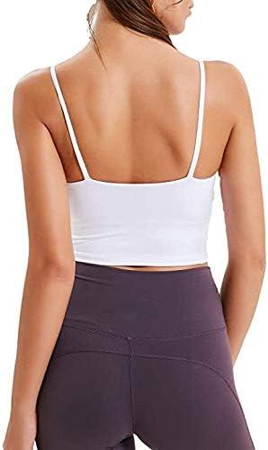 Womens Padded Sports Bra Fitness Workout Running Shirt Yoga Vest