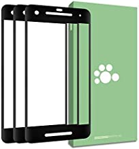 Google Pixel 2 Tempered Glass Screen Protector-(3 Pack) Clear Anti-Glare Ultra-Thin 3D Curve Edge 9H Shatter Proof Full Coverage Silk Print Protective Film Black for Google Pixel 2 G011A 5.0