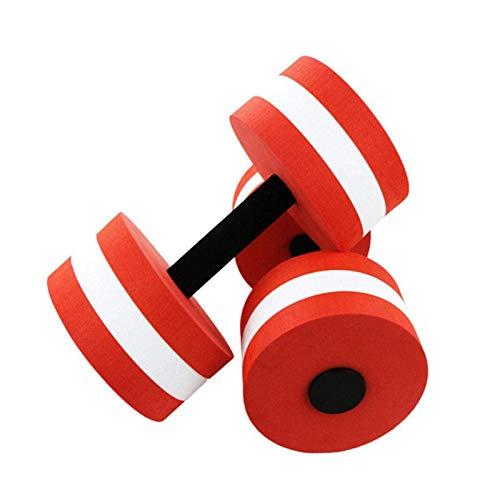 XXY Pesas De Mujer Mombillas para Hombres Yoga Deportes Deportes Producto Fitness Equipo EVA Agua Flotante Pesas De Pesas Coloridas Fitness Equipos (Color : Red)