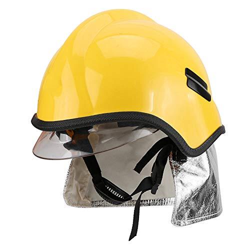 Casco de Bombero con Lente de Máscara, Casco de Seguridad para Bombero, Sombrero de Bombero Antivaho Resistente a Arañazos - Resistencia a altas temperaturas (260 ℃)
