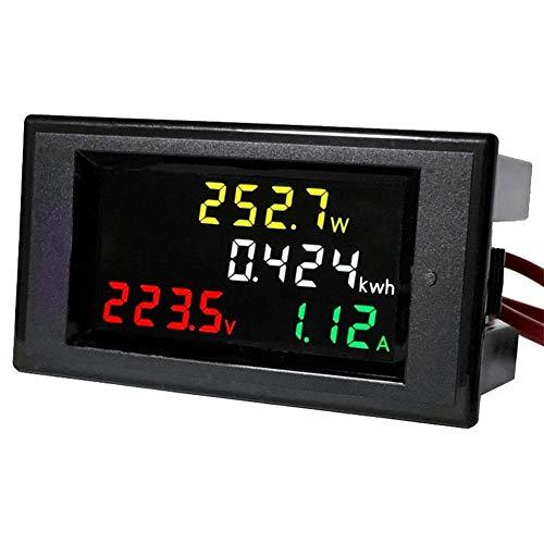 VBESTLIFE AC 80-300 V Multimetro Digitale, 0 ~ voltmetro Misuratore energia Attiva, 100A LCD a Colori Voltmetro Digitale Amperometro Volt Amp Potenza Kwh Contatore
