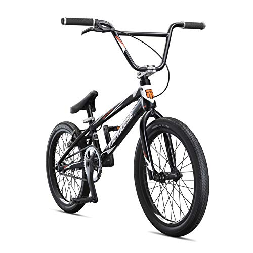 Mongoose Title Elite Pro BMX Race Bike, 20-Inch Wheels, Advanced Riders, Professional-Grade Tectonic T1 Biaxial Hydroformed and Butted Aluminum Frame, White
