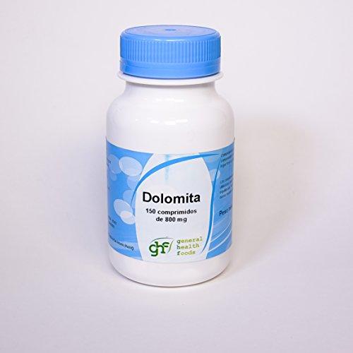Ghf Dolomita, Complemento Alimenticio con Calcio y Magnesio, 150 comprimidos de 800 mg