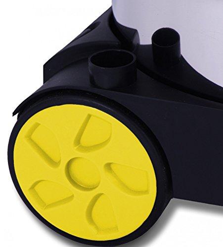 Masko Industriestaubsauger – gelb, 1800Watt ✓ Mit Steckdose ✓ Blasfunktion ✓ GS-Geprüft | Mehrzwecksauger zum Trocken-Saugen & Nass-Saugen | Industrie-Sauger verwendbar mit & ohne Beutel | Wasser-Staubsauger beutellos mit Filterreinigung - 5